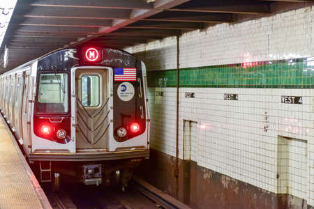 New York City - October 7, 2015: West Fourth Street Subway stop in New York City.