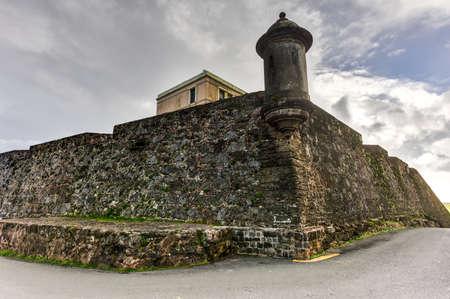 City Walls and lookout of San Juan, Puerto Rico.