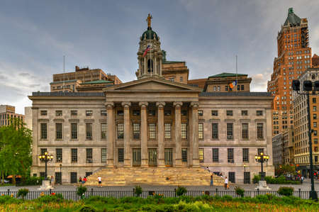 Brooklyn Borough Hall in New York, USA. Constructed in 1848 in the Greek Revival style.