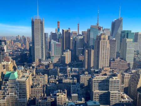 Photo for Panoramic view of the New York City skyline and Midtown Manhattan. - Royalty Free Image