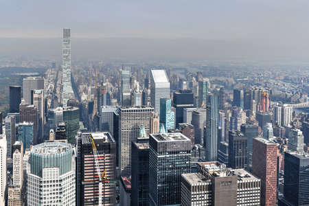 Photo for View of skyscrapers along the New York City skyline during the day. - Royalty Free Image