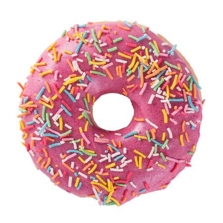 Foto de Donut with sprinkles isolated on white background top view - Imagen libre de derechos