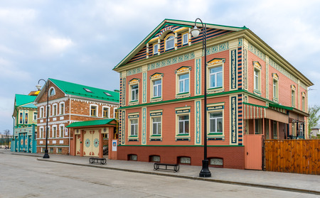 Old, brightly painted houses in Kazan