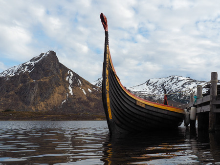 Photo for A viking ship (Drakkar) in Norway. - Royalty Free Image