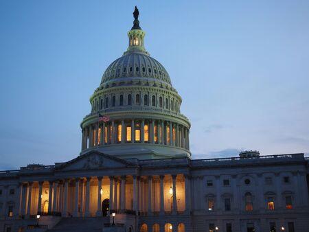 Photo pour The Capitol Building in Washington D.C. on a summer night. - image libre de droit
