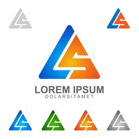 letter L , letter S , LS , letter l S vector logo design