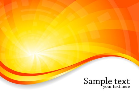bright background in orange color, clip-art
