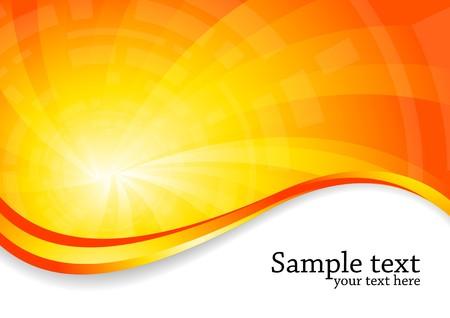 Ilustración de bright background in orange color, clip-art - Imagen libre de derechos
