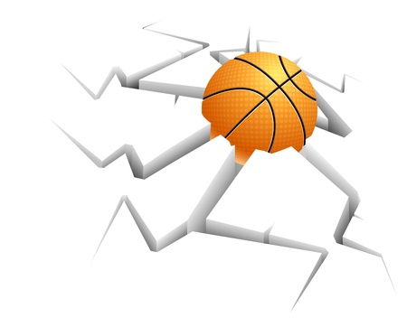 Basketball on background with still