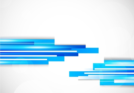 Background with blue lines. Abstract colorful illustration