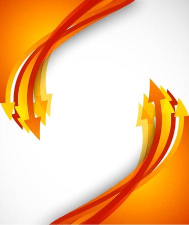Illustration pour Bright background with orange arrows. Colorful illustration - image libre de droit