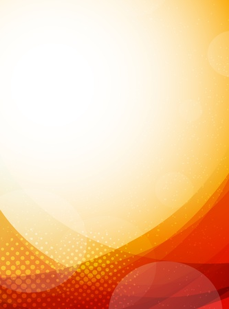 Bright orange background  Abstract colorful illustration with circles