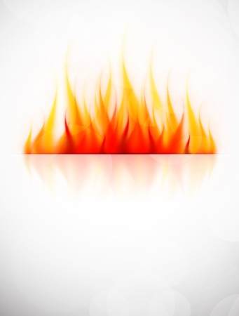 Background with fire flame  Abstract hot illustration
