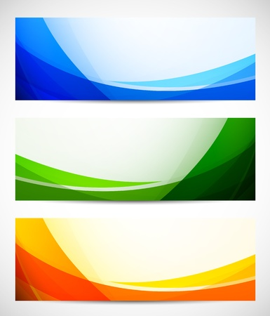 Foto de Set of abstract banners  Bright illustration - Imagen libre de derechos