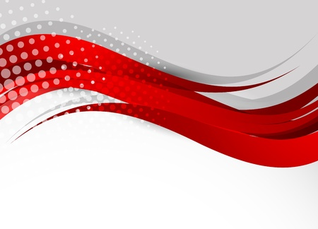 Background in red color. Abstract illustration
