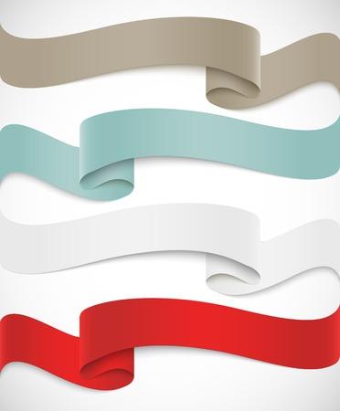 Set of ribbons