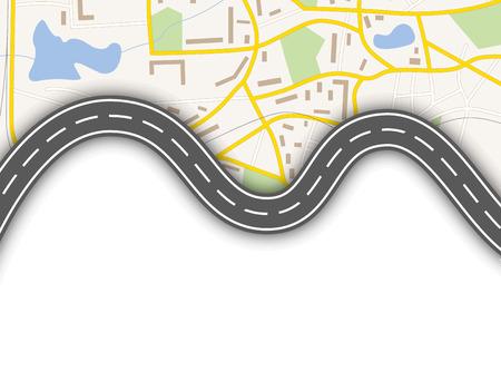 Illustration pour Abstract navigation map - image libre de droit