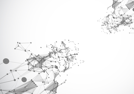 Illustration pour Polygonal background with triangles  vector gray illustration - image libre de droit