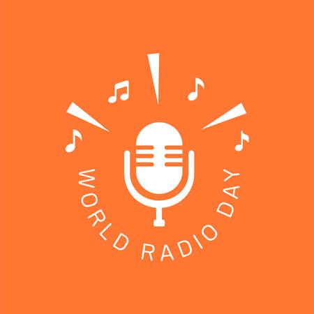 Illustration pour logo design of World radio day for poster, banner or any design - image libre de droit