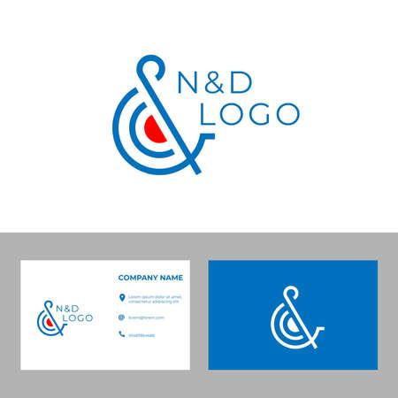 Illustration pour Elegant Letter N&D Logo design Concept for business or company logo - image libre de droit