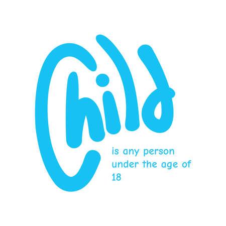 Vektor für Motivational quote poster about children for celebrating world children day in vector file - Lizenzfreies Bild