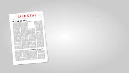 Fake News Newspaper Eps10 Vector Illustration. Fake News Template.