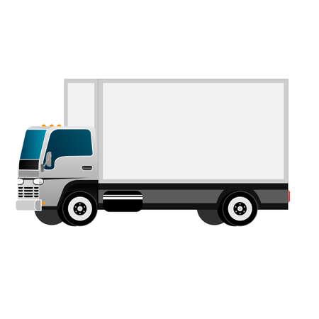 Illustration pour Truck. Cargo delivery by truck. Vector illustration - image libre de droit