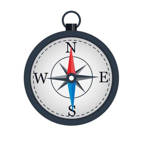 Illustration pour Compass The arrow indicates the direction. Location - image libre de droit