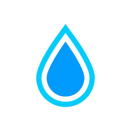 Illustration pour Water drop icon, graphic design template, vector illustration - image libre de droit