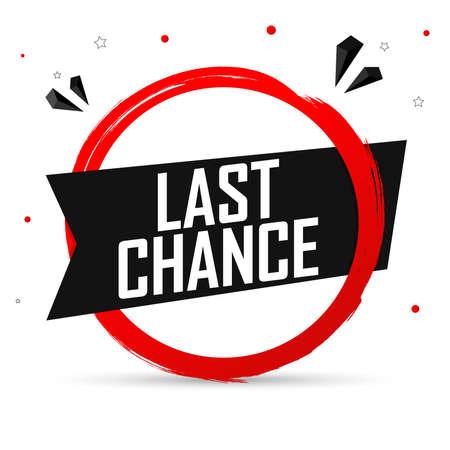 Illustration pour Last Chance, banner design template, sale tag, vector illustration - image libre de droit