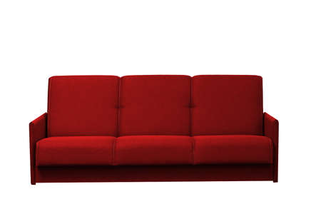 Photo pour red sofa on a white background isolated - image libre de droit