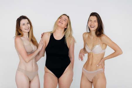 Photo pour Body positivity concept. Woman with confidence and body positivity - image libre de droit
