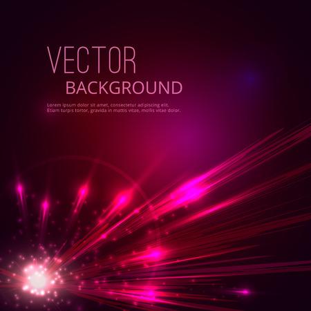 Illustration pour Futuristic vector abstract background. Explosion of star. - image libre de droit