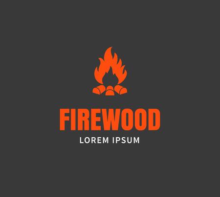 Firewood emblem or template.