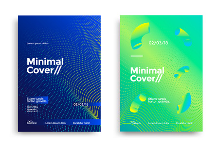 Illustration pour Minimal covers design - image libre de droit