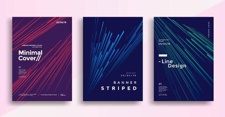 Illustration for Minimal dynamic covers design with color simple line. - Royalty Free Image