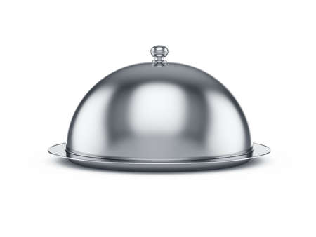 3d render of closed cloche, isolated on white background