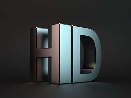 3d illustration of meta HDl word over black background
