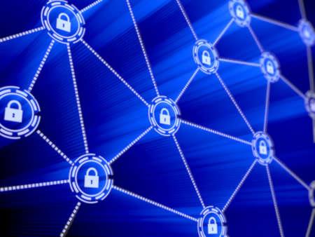 Photo pour Concept of computer data encryption. Data protection. Security enhancement  - image libre de droit