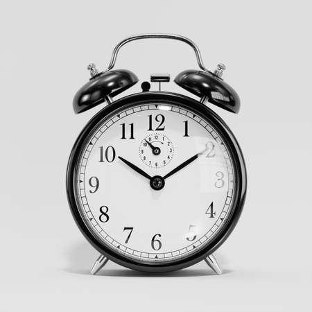 Foto de Classic black table clock isolated on a white - Imagen libre de derechos