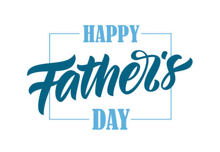 Illustration pour Vector illustration: Calligraphic brush type lettering of Happy Father's Day. - image libre de droit