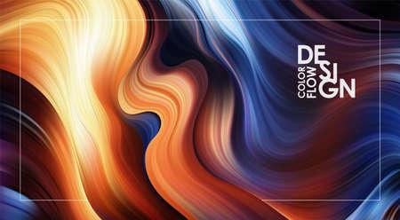 Ilustración de Vector illustration: Abstract Modern colorful flow background. Liquid Wave color paint shape. Art design - Imagen libre de derechos