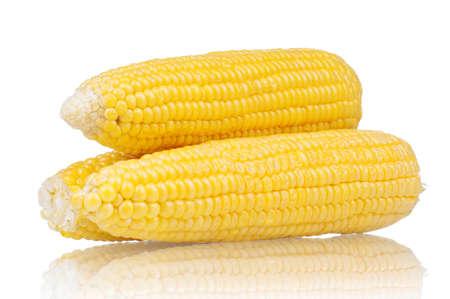 Foto für Fresh an ear of corn on a white background - Lizenzfreies Bild