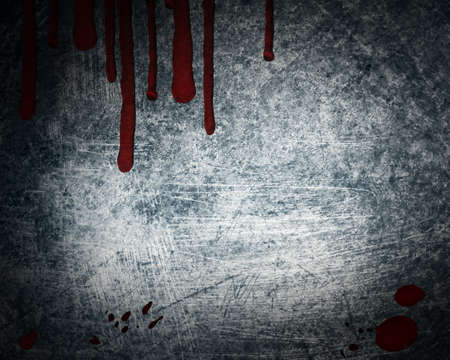 steel background with drop of blood