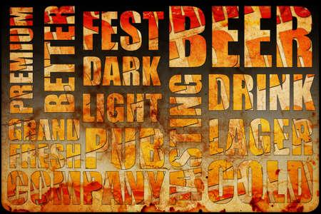 beer background text