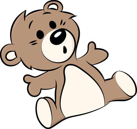 Illustration pour Cartoon teddy bear vector illustration for children - image libre de droit