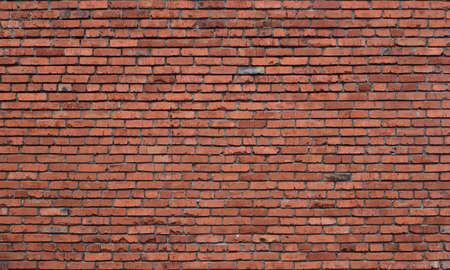 Foto für Old brick wall of red blocks with crumbling texture - Lizenzfreies Bild