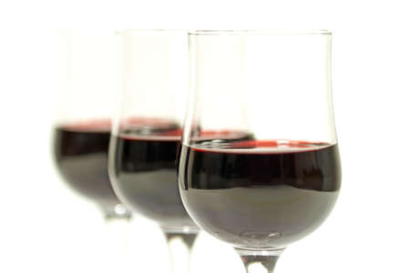 Red wine isolated on a white background