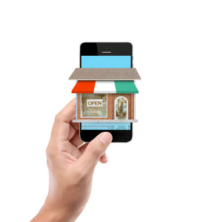 On line store. Sale, smart phone