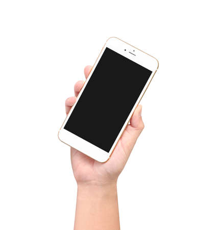 Touch screen smartphone in hand